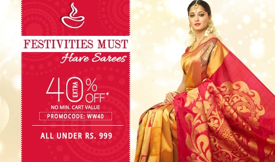 Paytm—Extra 50% OFF on orders of Rs 999 or more on ethnic wear & Flat 40% OFF on appliances