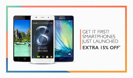 Extra 15% Off on Recently Launched Mobiles