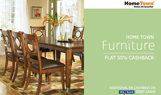 Hometown Furniture Extra 50 Cashback On Rs 7999 Paytm Deals Street