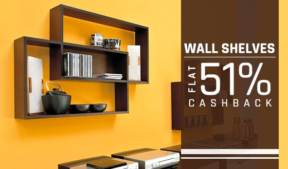 Wall Shelves Extra 51% Cashback @PayTm