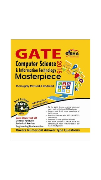 GATE Computer Science & Information Technology Masterpiece 2015 with 4 Mock Test CD