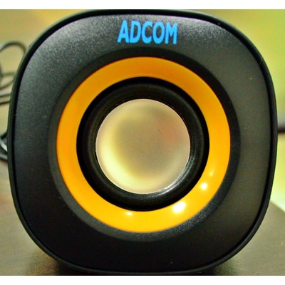 Adcom AUSB-U70 Multimedia USB Speaker (Black & Yellow)