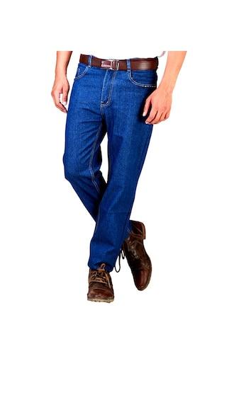 Jovial Mart Dark Blue Regular Fit Denim Jeans (Size-28)