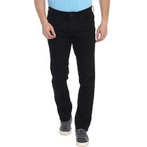 Parx Black Cotton Slim Fit Jeans