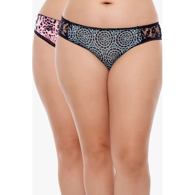 Penny Multi Color Polyester Panties Pack of 2