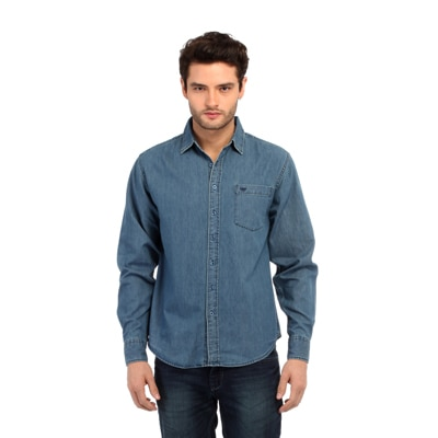 Red Tape Blue Cotton Casual Shirt