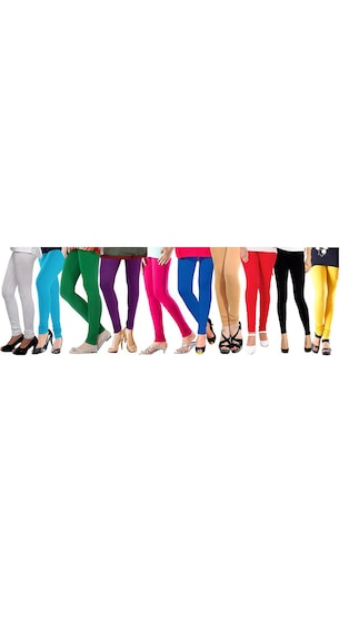 Stallions Assorted Lycra Leggings Pack Of 10 (Size-XL)