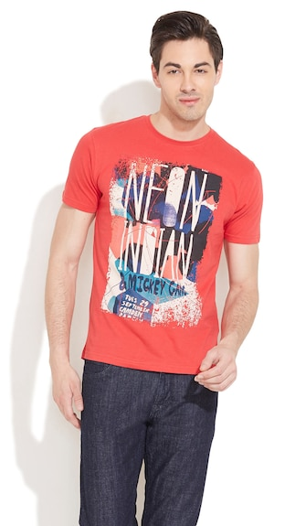 Thinkpop Red Cotton T Shirt (Size-L)