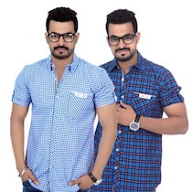 True Fashion Multicolor Set Of 2 Casual Shirt