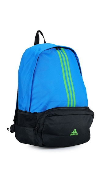 Adidas Blue And Black Polyester Backpack