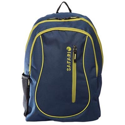 Safari Blue Polyester Backpack (Non Laptop)