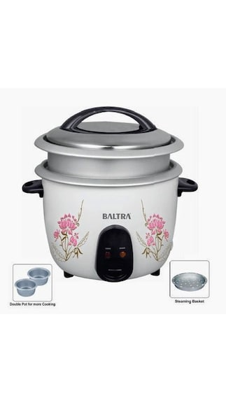 PAYTM – Baltra BTD-700DP 1.8 L Dual Pot Rice Cooker (White) @ 1028
