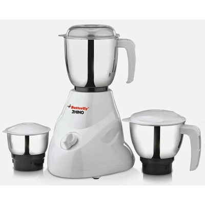 Butterfly Rhino 550 W Mixer Grinder With 3 Jars (White)