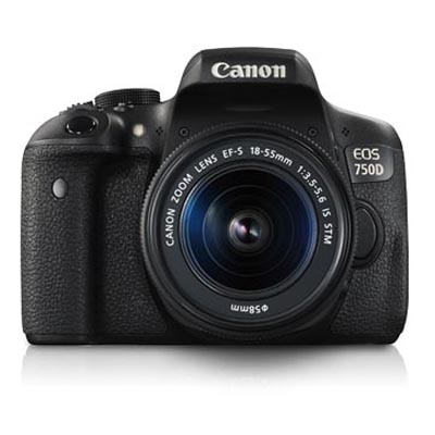 Canon EOS 750D Kit (EF-S18-55mm IS STM) 24.2 MP DSLR Camera (Black)
