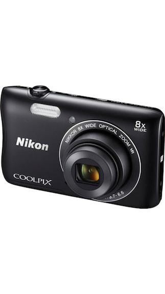 Nikon Coolpix S3700 20.1 MP Point & Shoot Camera (Black)