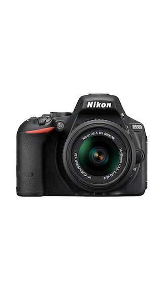 Nikon D5500 (With AF-S DX NIKKOR 18-55 mm f/3.5-5.6G VR II Lens) DSLR Camera (Black)