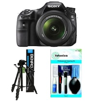 Sony SLT-A58K (With 18-55 mm Lens) DSLR Camera + Fotonica 7-in-1 Lens Cleaning Kit + Benro T-880EX Tripod