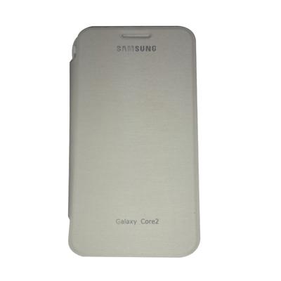 Castle Flip Cover For Samsung Core 2 (White) - 4067529