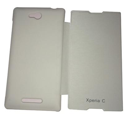 Castle Flip Cover For Sony Xperia C (White)