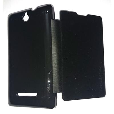 Castle Flip Cover For Sony Xperia E Dual (Black)