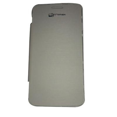 Castle Flip Cover For Micromax A77 (White)