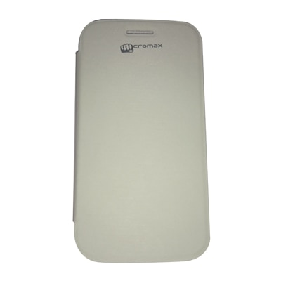 Castle Flip Cover For Micromax A 110 (White)