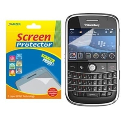 Amzer Screen Guard 82923 Super Clear Screen Protector With Cleaning Cloth For BlackBerry Bold