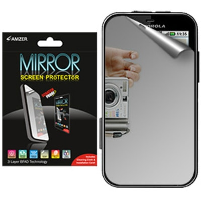 Amzer Screen Guard 89392 Mirror Screen Protector With Cleaning Cloth For Motorola DEFY Plus/ Motorola DEFY MB525