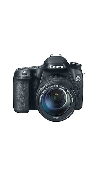 Canon EOS 70D (With EF-S 18-135 mm IS STM Lens) 20.2 MP DSLR Camera (Black)
