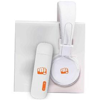 Micromax MMX 219W-3G 21 Mbps Data Card (White) With Free Power Bank & Headphones