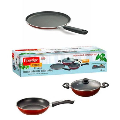 Prestige Omega Deluxe Build Your Kitchen 3 Pieces Cookware Set