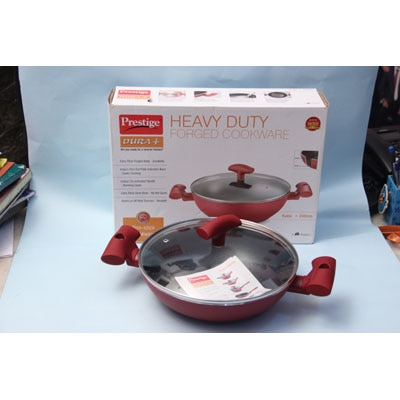 Prestige Duraplus Cookware 240Mm Kadai With Lid