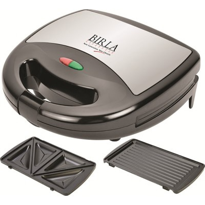 Birla Lifestyle BEL-2022 DLX 2 Slice Sandwich Maker (Black)