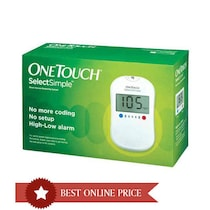 Johnson & Johnson One Touch Select Glucose Monitor- Free 10 Strip