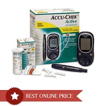 Accu-Chek Active Glucose Monitor (Includes 10 Test Strips 1 Softclix Lancing Device And 10 Sterile Lancets)