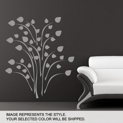 DeStudio Flower Wall Art Decals Wall Sticker And Wall Decal Night Black