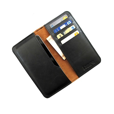 I-KitPit Genuine Leather Wallet Flip Pouch Case For Spice Stellar Mi-600 - 3386753