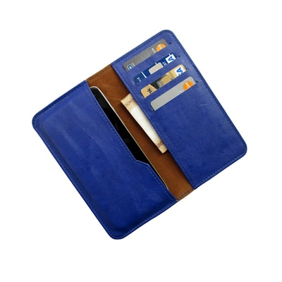 I-KitPit PU Leather Wallet Flip Pouch Case For Videocon A45