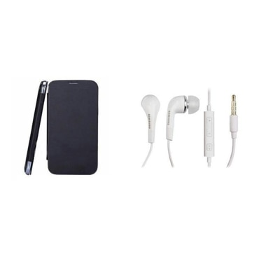Ks Flip Cover Of Samsung Galaxy Duos 2 S7582 With Samsung Headphone