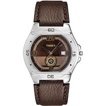 Timex Men Round Maroon Analog Watch