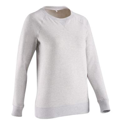 Domyos Round Neck Sweat Shirt-Pink