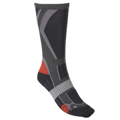 Quechua Forclaz 500 Sock-Grey And Red