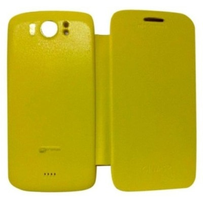 YGS Flip Cover For Micromax A110 Canvas 2 (Yellow)