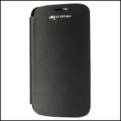 YGS Flip Cover For Micromax A116 Canvas HD  Black  available at Paytm for Rs.184