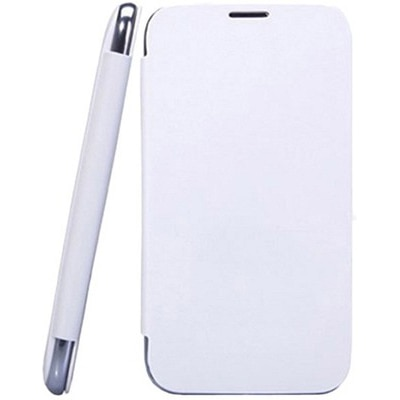 YGS Flip Cover For Micromax A116 Canvas HD (White)