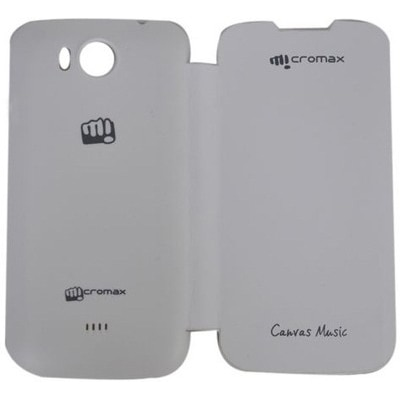 YGS Flip Cover For Micromax A88 Canvas Music (White)