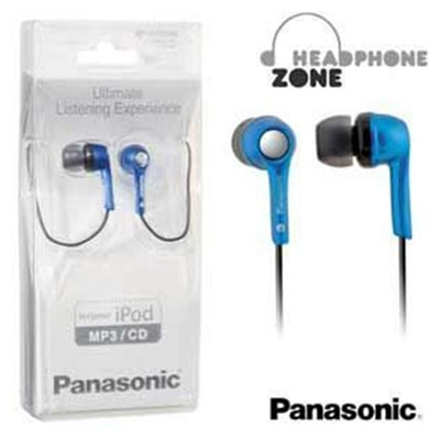 Panasonic RP-HJE240PAA In Ear Wired Stereo Headphones (Blue)