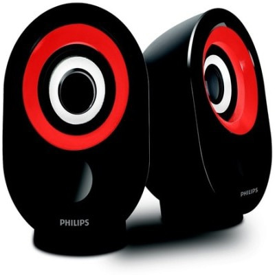Philips Spa 50 Desktop Speaker (Black & Red)