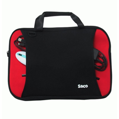 Saco Shock Proof Slim Carry Case For HP Pavilion G6-2228TU Laptop (Red & Black)
