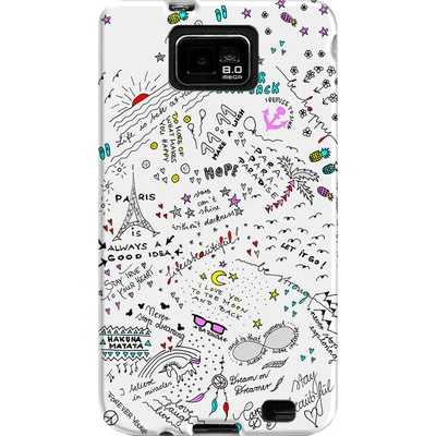 DailyObjects Back Cover For Samsung Galaxy S2 (Multi Color)